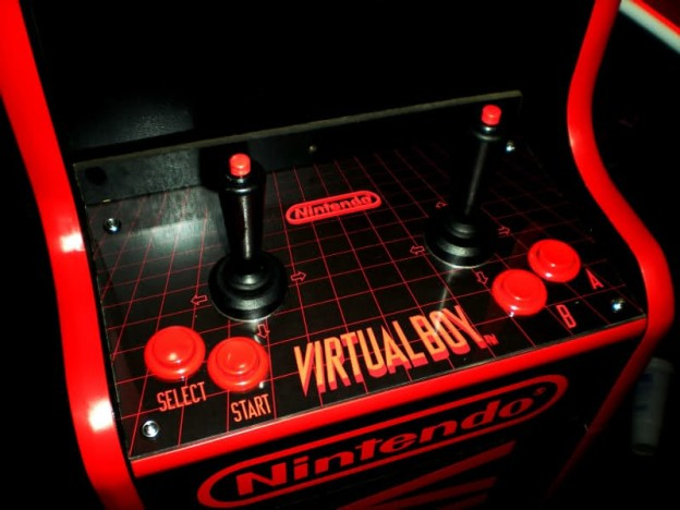 The interface of the Virtual Boy Arcade machine by Tighe Lory.